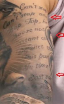 TJ Dillashaw lyrics tattoo