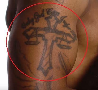 Trey Songz cross tattoo