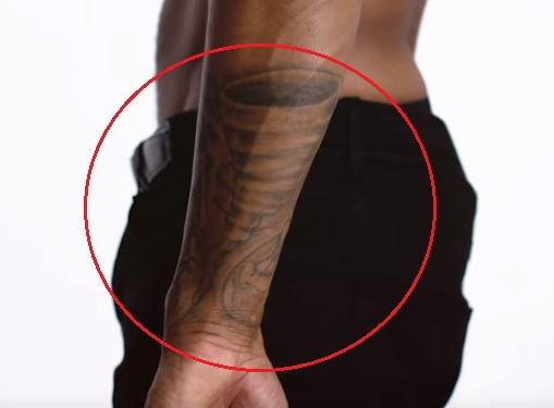 Trey Songz storm tattoo