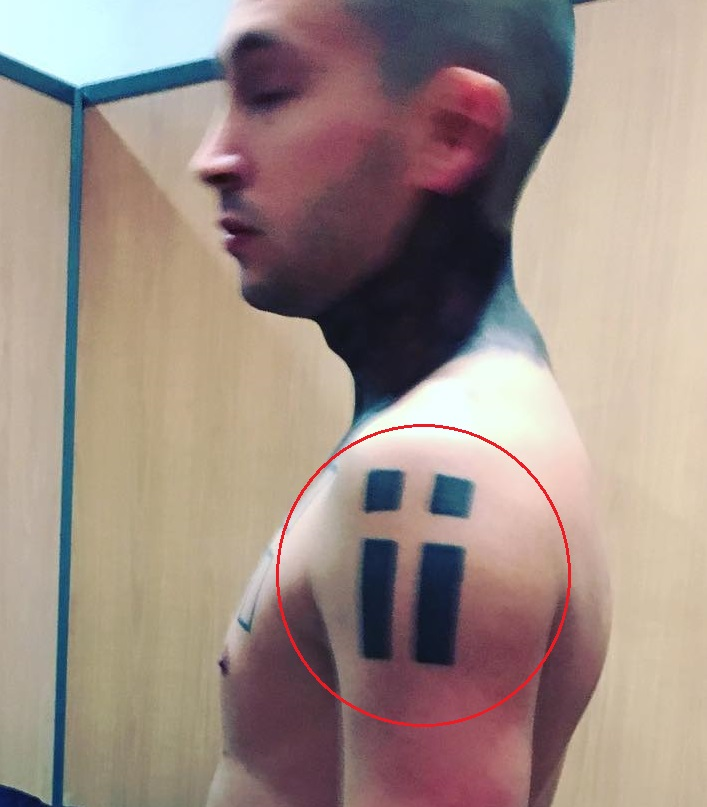 Tyler Joseph Left Shoulder Tattoo