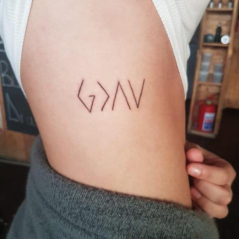 god is greater than the highs and lows tattoo