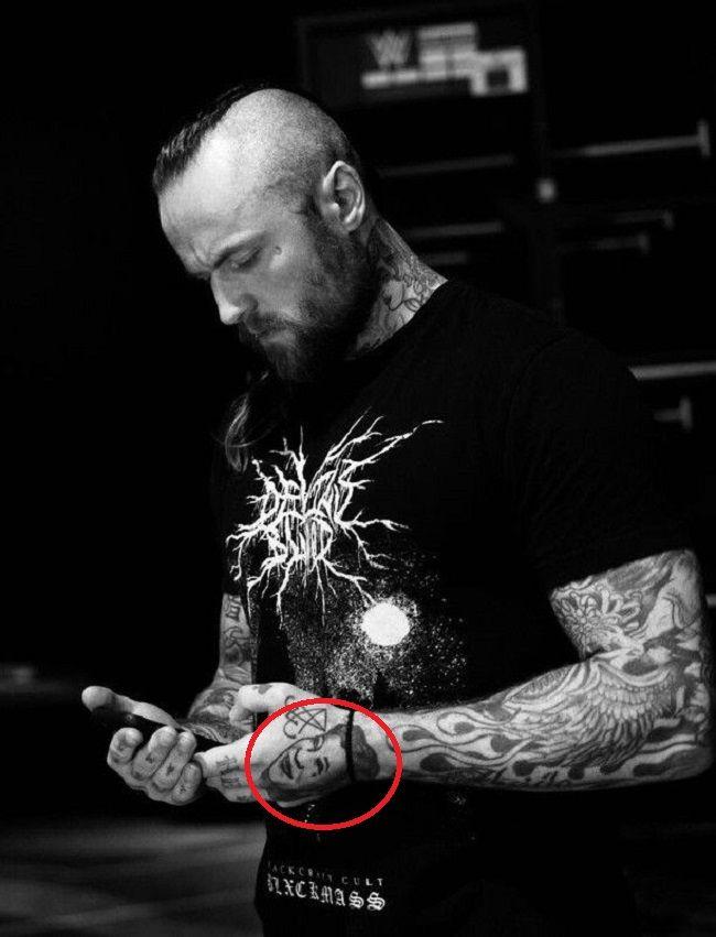 Aleister Black-ella fitzgerald tattoo