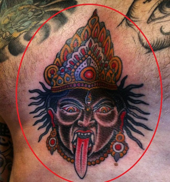 Aleister Black-kali tattoo