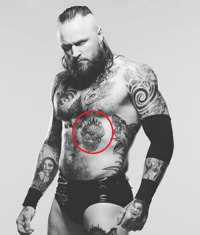 Aleister Black-yama tattoo
