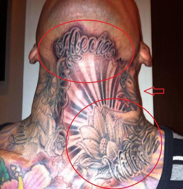 Carey Hart angels flowers names tattoo