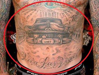 Carey Hart car quote tattoo
