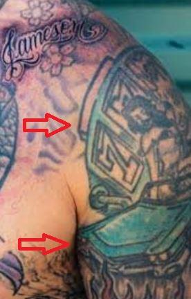 Carey Hart car woman slot machine tattoo