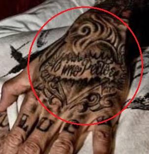 Carey Hart flaming heart tattoo