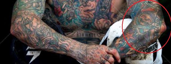 Carey Hart forearm tattoo 1