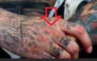Carey Hart knuckle tattoo