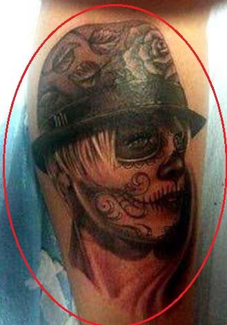 Carey Hart portrait tattoo