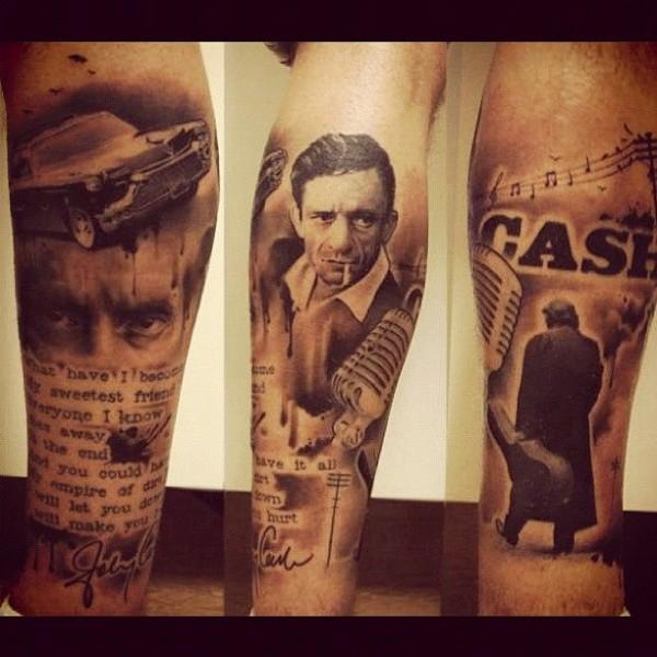 johnny cash tattoos