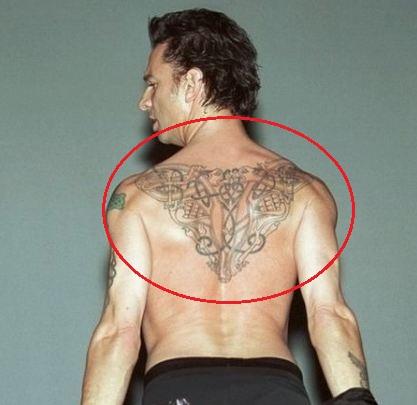 David Gahan back tattoo
