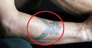 David Gahan eagle tattoo 1