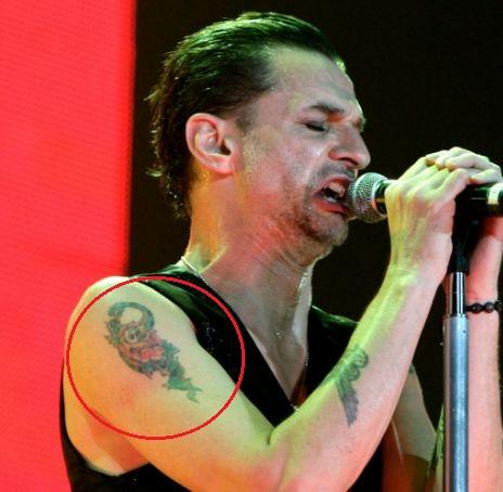 David Gahan snake tattoo
