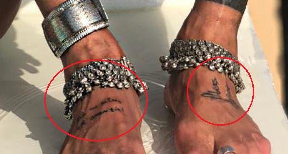 Gianluca Vacchi feet tattoo