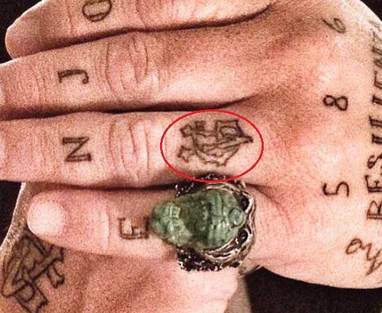 Gianluca Vacchi left hand tattoo 1