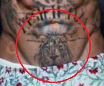 Gianluca Vacchi lion tattoo 1