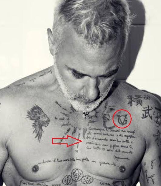 Gianluca Vacchi logo poem tattoo