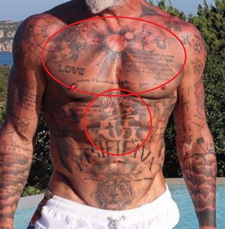 Gianluca Vacchi logo tattoo 1