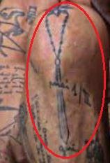 Gianluca Vacchi stars tattoo 1