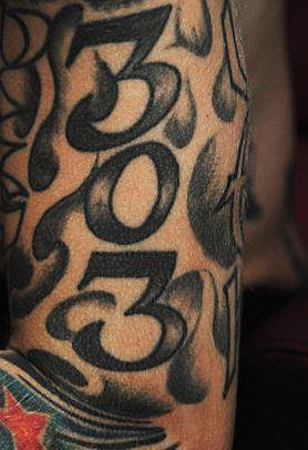 MGK 303 Tattoo