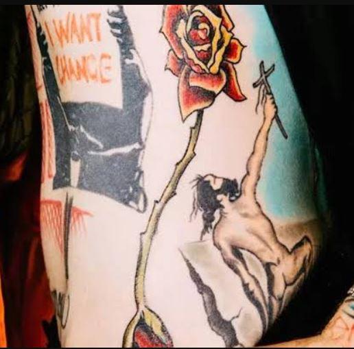 MGK Blooming Rose Tattoo