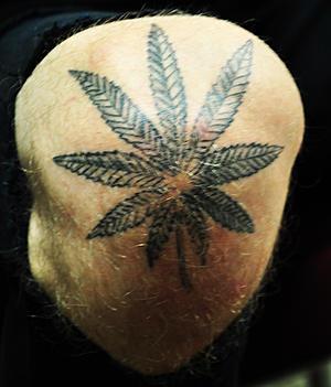 MGK Cannabis Tattoo