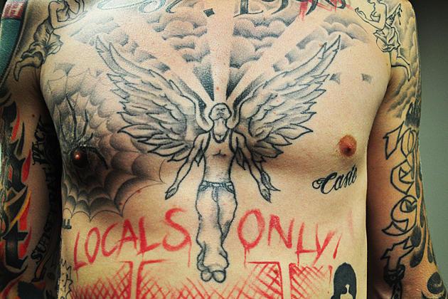 MGK Guardian Angel Tattoo