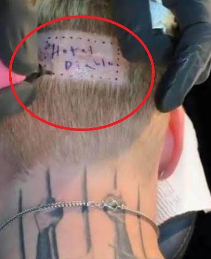 MGK hotel Diablo Tattoo