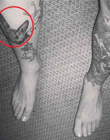 Mac Miller Fierce Cat Face Tattoo