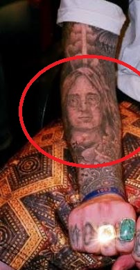 Mac Miller John Lennon Face Tattoo