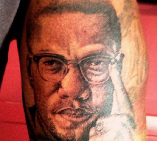 The Game-Malcolm X tattoo