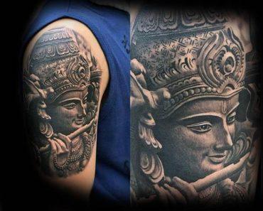 Lord krishna Tattoo
