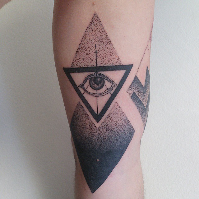 bermuda triangle tattoo