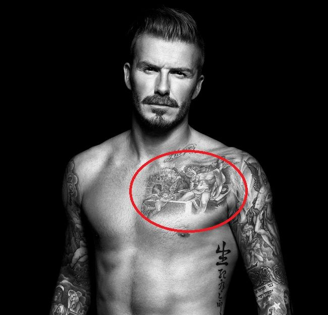 david beckham tattoo-cherubs-mark mahoney