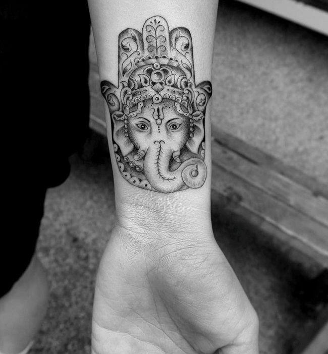 elephant hamsa-tattoo