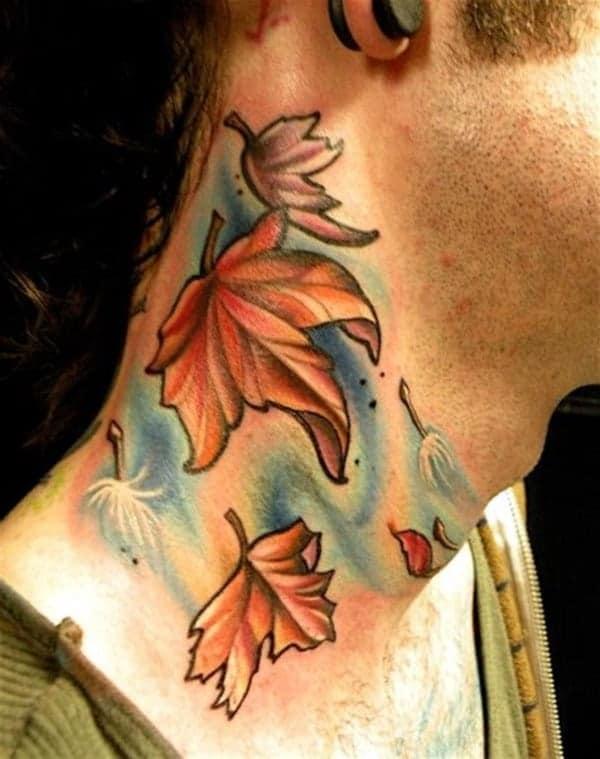 leaf tattoo