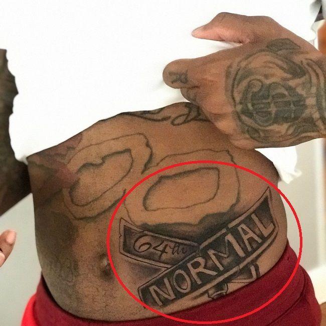 lil durk-64th normal tattoo