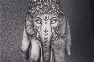 lord ganesha-elephant tattoo