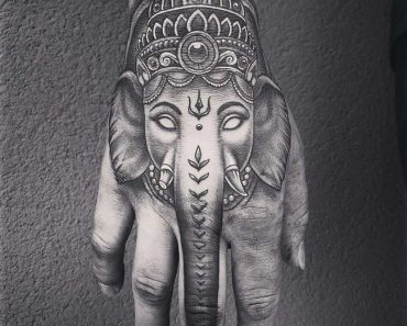 lord ganesha-elephant tattoo