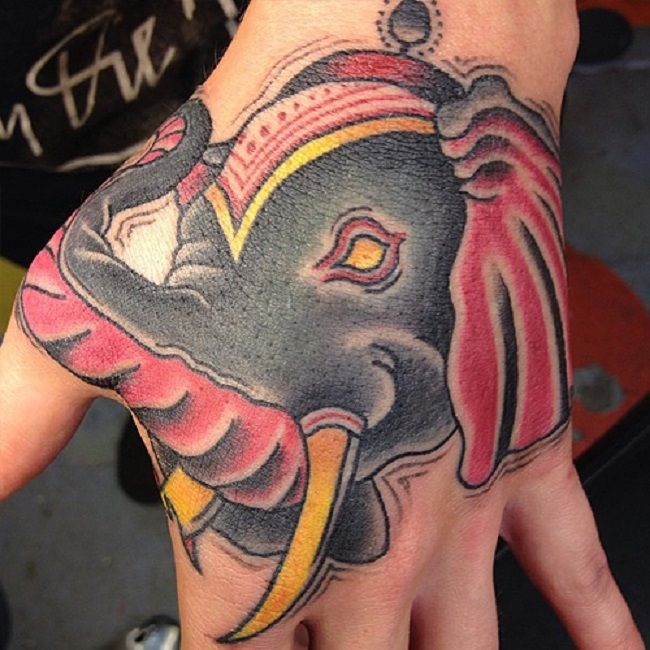 renee phoenix-elephant tattoo