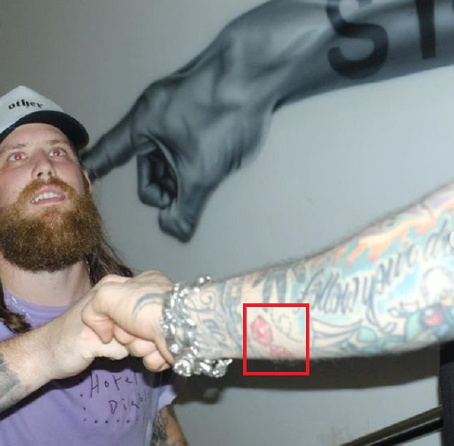right forearm of -machine kelly gun