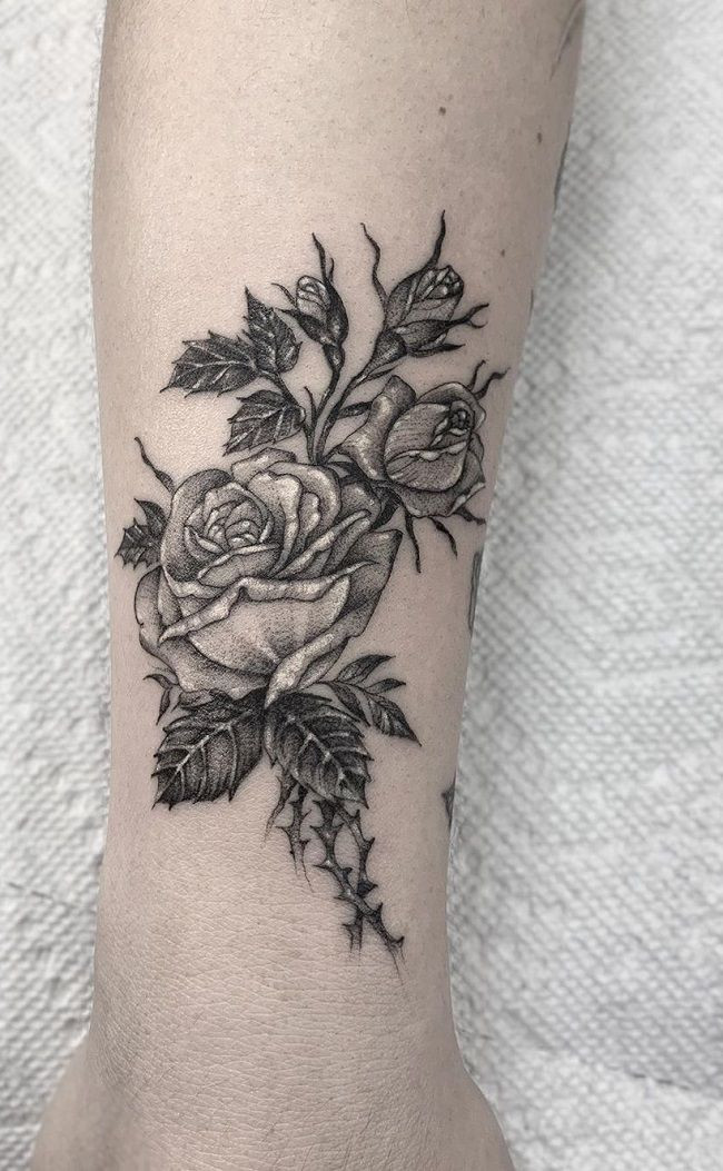 rose tattoo-romeo lacoste