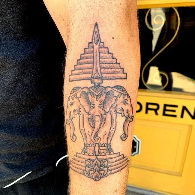 symbol of laos-elephant tattoo
