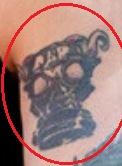 Chris Zylka mask tattoo