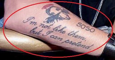 Chris Zylka quote tattoo
