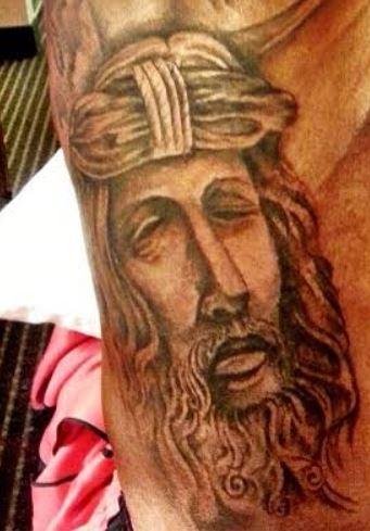 Kevin Durant Jesus Christ Tattoo