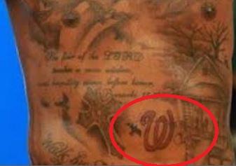 Kevin Durant W Tattoo