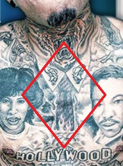 Kid Ink Burning Tie Tattoo